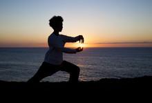 Tai Chi  At Sunset