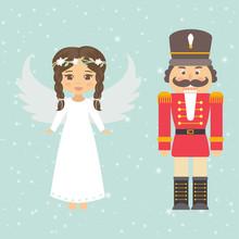 Nutcracker And Christmas Angel