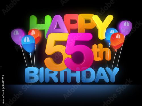 Happy 55th Birthday Title Dark
