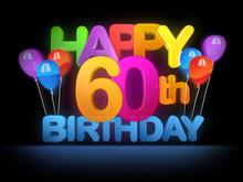 Happy 60th Birthday Title Dark