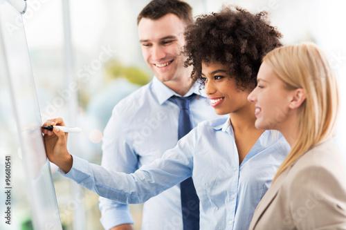 Fotografie, Obraz  Business people at a presentation