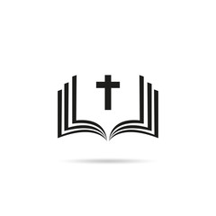 Naklejka Bible Church logo. the name of the mission. Bible Society.