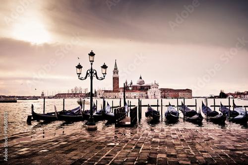 Foto  Venedig-Gondel romantische Liebe Liebhaber Lagune