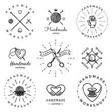 Handmade Workshop Logo Vintage...