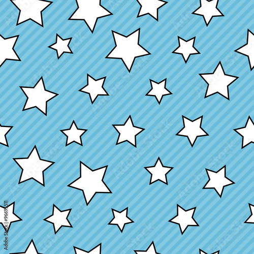 Fotobehang - Seamless background with stars