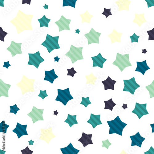 Wall mural - Colorful seamless background with stars