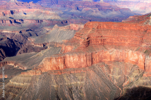 Poster Brick View of Grand Canyon in the state of Arizona, United States