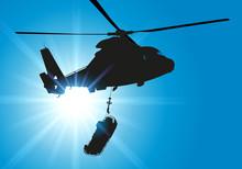 Saugetage D'une Victime Par Hélitreuillage Et Son Transport à L'hôpital Par Hélicoptère