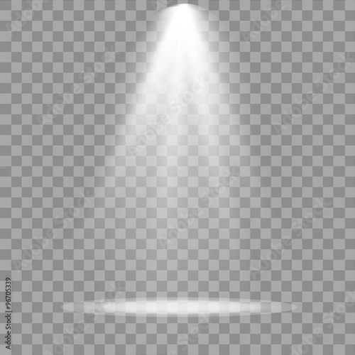 Poster Licht, schaduw Vector spotlight. Light effect