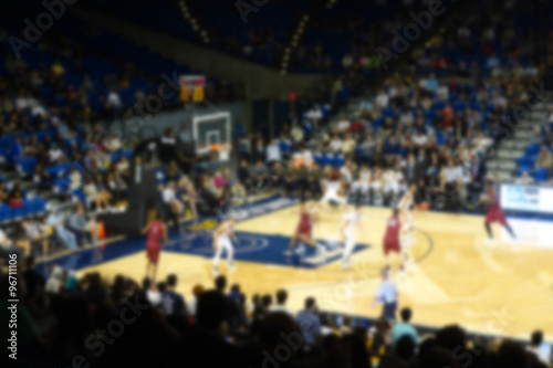 blurred background of sports arena crowd Canvas Print