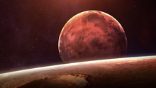 Mercury - High Resolution Best Quality Solar System Planet. All The Planets Available. This Image Elements Furnished By NASA