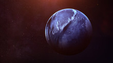 Neptune - High Resolution Best Quality Solar System Planet. All The Planets Available. This Image Elements Furnished By NASA