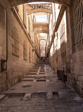 The Narrow Streets Of The Old City Of Jerusalem, Israel