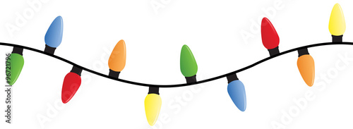 Photo String of Christmas lights - can be placed end to end to make an endless string