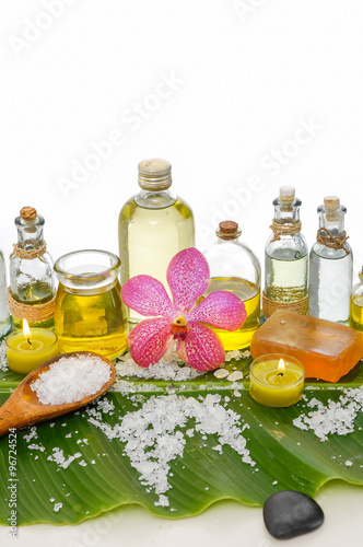 Poster Spa spa setting on leaf