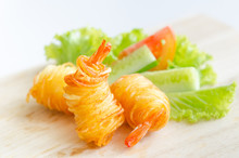 Potato String Prawns - Asian S...