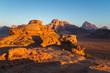 canvas print picture - Sunrise in Wadi Rum