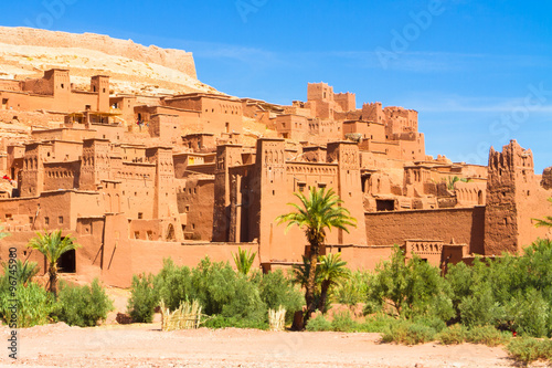 Papiers peints Con. Antique Traditional medieval oasis fortress of Ait Benhaddou, Ouarzazate, Morocco.