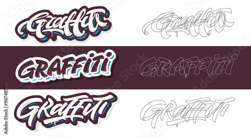 Foto op Canvas Graffiti Graffiti lettering vector variants