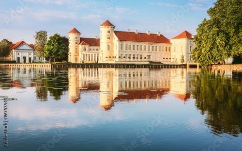 Montage in der Fensternische Schloss Rheinsberg Castle in Ostprignitz-Ruppin, Germany