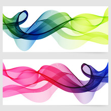 Abstract Template Horizontal Banner
