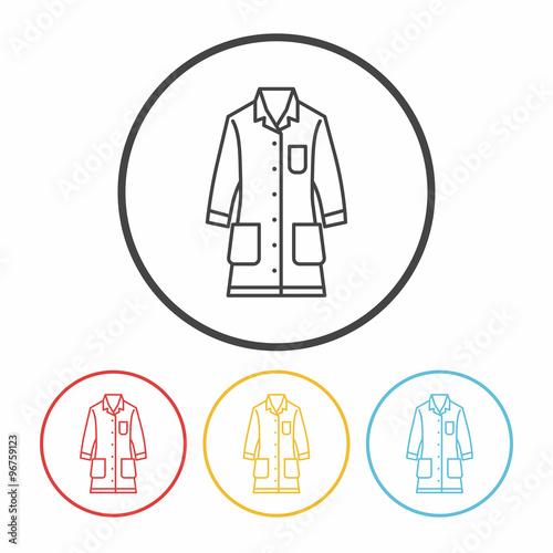 Fotografie, Tablou  Lab coat line icon