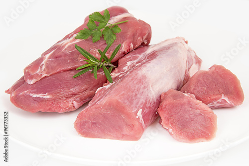 Foto  filet mignon de porc cru
