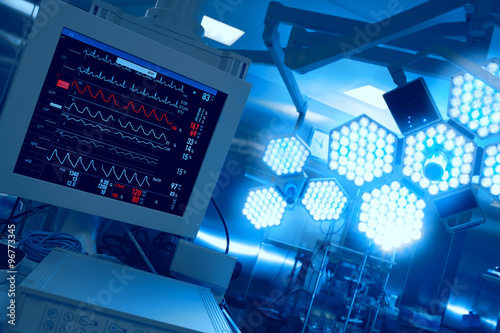 Cuadros en Lienzo  Monitoring of patient in operating room in hospital