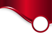 Red Vector Metal Background Wi...
