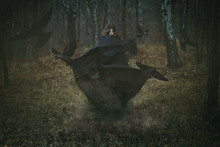 Witch Of The Forest With Her Crows