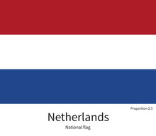 National Flag Of Netherlands With Correct Proportions, Element, Colors