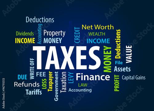 Fototapeta Taxes obraz