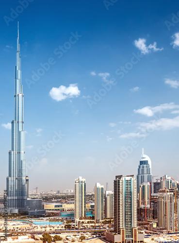 Downtown of Dubai Canvas Print