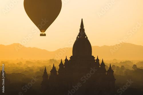 Photo  balloons over Bagan