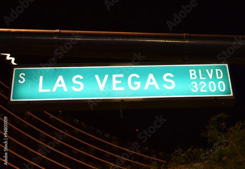 Poster Las Vegas ラスベガスの道路標識