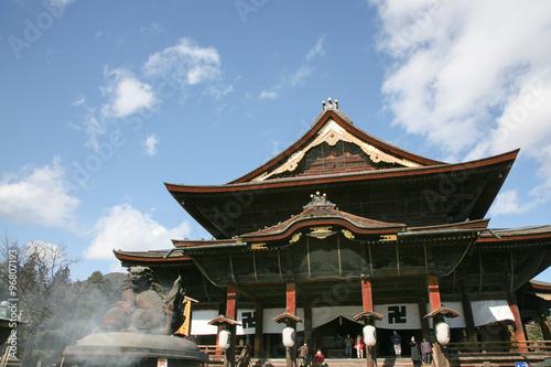 Photo Stands Temple Zenkoji temple