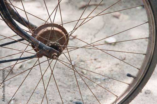 In de dag Fiets close up of bicycle wheels