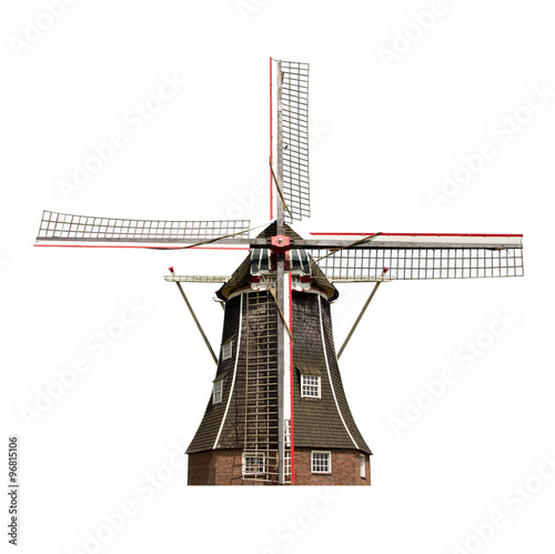Fotografía  Dutch windmill isolated