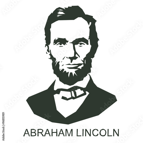 Photo  silhouette Abraham Lincoln