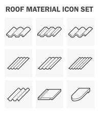Roof Tile Vector Icon. Consist...