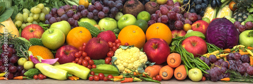 Tropical fresh fruits and vegetables for healthy #96830337