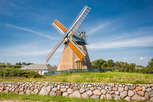 Traditional Windmill In Beauti...