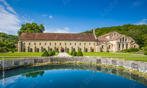 Canvas Prints Old building Cistercian Abbey of Fontenay, Burgundy, France