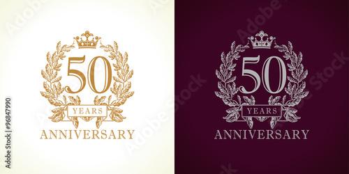 Fotografia  50 anniversary luxury logo