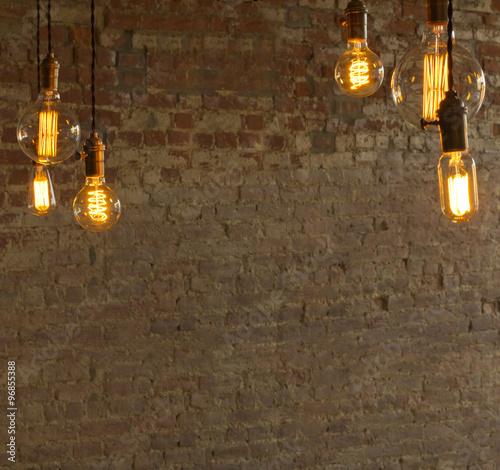 Cuadros en Lienzo Edison Style Lightbulbs