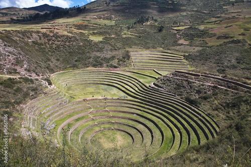 Fotografie, Obraz  Pokusných plochách Inků, Moray Maras