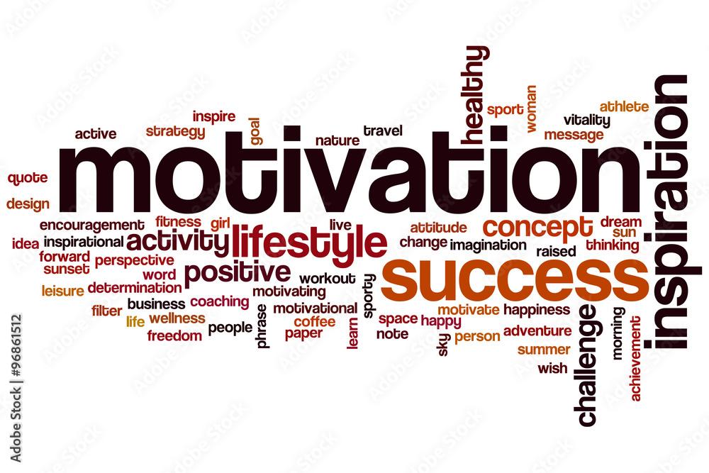 Fototapeta Motivation word cloud concept
