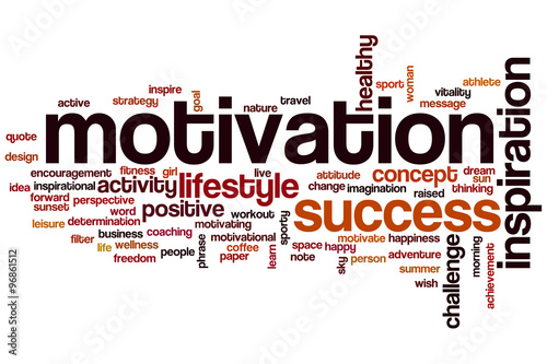 Fotografiet  Motivation word cloud concept