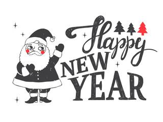 Fototapeta Boże Narodzenie/Nowy Rok Merry Christmas illustration.