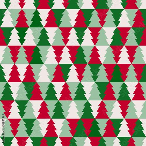 Stoffe zum Nähen Christmas tree seamless pattern